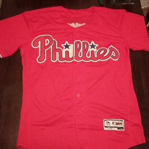 1d2b9b5c2 Majestic Shirts | Philadelphia Phillies Rhys Hoskins Baseball Jersey ...